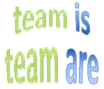 Team is-are